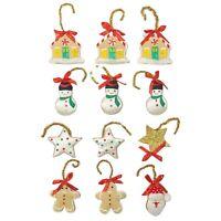 Vintage Handmade Christmas Ornaments Lot of 12 Fabric Stuffed 1960s Variety Lot