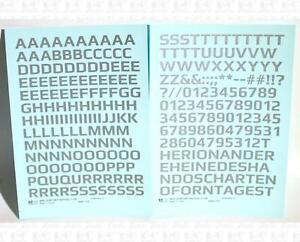 K4 G Decals Silver 7/16 Inch Mid Century Gothic Letter Number Alphabet Set