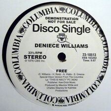 "Deniece Williams ‎– Free / It's Important To Me - 12"" INCH"