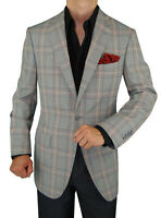 DTI GV Executive Mens Italian Wool Suit Jacket Modern Fit One Button Blazer
