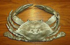 Large Vintage Life-size Salisbury Pewter Blue Crab
