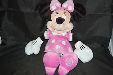 "Disney Store Minnie Mouse Pink Polkadot Dress Slippers Bow Plush Doll 19"" Toy"