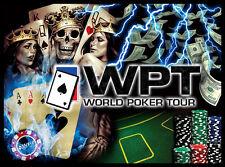 World Poker Tour Pinball Alt Translite (5 choices) New Art Free Playfield Decal