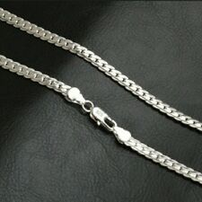 925 Silver Korean link chain necklace and bracelet Set
