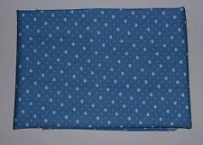 1 metre in cotton poplin with tiny white hearts and spots on blue background