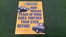 1988 1989 NISSAN UK SECURITYPLUS USED CAR WARRANTY BROCHURE Sunny Bluebird Micra