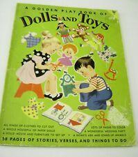 VTG PAPER DOLLS 1953 GOLDEN PLAY BOOK DOLLS TOYS HILDA MILOCHE LOTS UNCUT!!!
