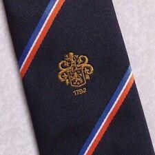 Beamish & CRAWFORD Crest Motivo Cravatta Vintage con Cork in Irlanda Logo Blu Scuro 1980s