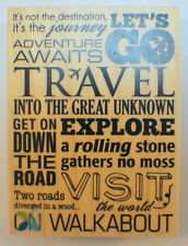 Momenta 2016 Travel Collage Words Writing Journey Vacation Wooden Rubber Stamp