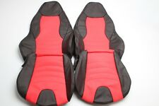 Custom Made BMW Z3 Real Leather Seat Covers for M Sport seats Black and Red