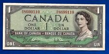 1954 CANADA Canadian ONE 1 DOLLAR BILL prefix H/O NOTE AU-UNC