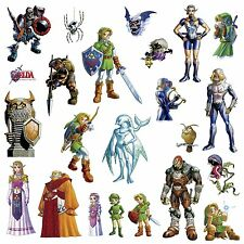 LEGEND OF ZELDA 23 Wall Decals Video Game Room Decor Stickers OCARINA OF TIME