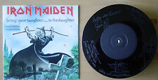 "EX! IRON MAIDEN BRING YOUR DAUGHTER TO THE SLAUGHTER  7"" ETCHED VINYL LIMITED ED"