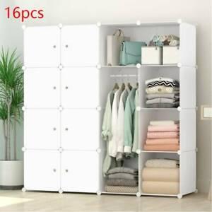 DIY 16 Cube Closet Wardrobe Modular Storage Organizer Clothes Kids Furniture