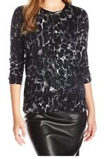 Rafaella Women's Animal Print Cardigan