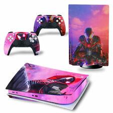PS5 Disc Edition Skin Decal Sticker -Spiderman Custom Design 8 - FREE P&P