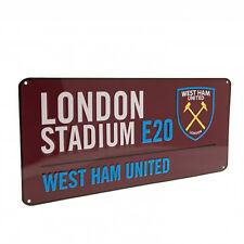 West Ham United F.C - Street Sign (CL) - GIFT / PLAQUE