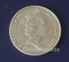 10 Cent Coin 1997 Lyrebird Australian 10c Circulated Low Mintage