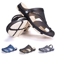 Summer Mens Beach Hollow out Sandals Flip Flops Slippers Flat Heel Casual Shoes