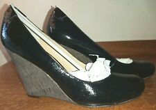 NINE WEST Black Patent Wedges US 12 / UK 10 / EU 44