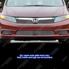 Fits 2012 Honda Civic Sedan Billet Grille Grill Insert