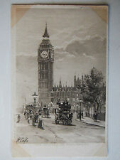 The Houses of Parliament Old Postcard CW Faulkner London