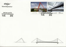 Iceland 2018 FDC Bridges Europa 2v S/A Set Cover Architecture Tourism Stamps