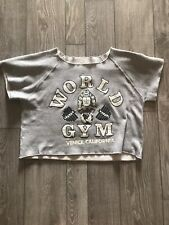 VTG 90s World Gym 1/2 Workout Shirt