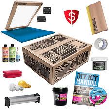 Color Silk Screen Printing Full Screening Set Kit Classic Table Top