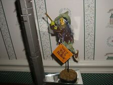 """DEPT 56-SISTERS OF WITCH HOLLOW-8""""H AGNES THE FROG WITCH ON BROOM-NEW"""
