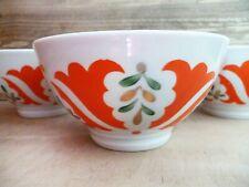 Vintage Set Serving Bowls Faience Porcelain Rice Noodle Salad Tea Piala Set 5
