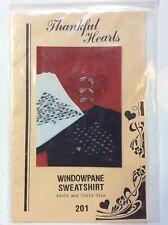 """Thankful Hearts""       WINDOWPANE SWEATSHIRT            Adult and Child Size"