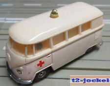 Faller AMS --  VW Bulli Krankenwagen mit Blinklicht, inkl. 4 neuen Repro Reifen