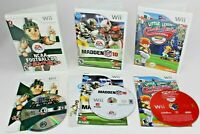 Nintendo Wii Game Lot x 3 = Baseball 2008, Madden 10, NCAA Football 09