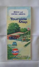 1968 Gulf MEXICO & CENTRAL AMERICA Road Tourgide Map