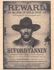 "Back To The Future 3 Buford ""Mad Dog"" Tannen Wanted Poster > Prop/Replica"