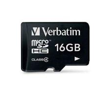 Memory card microsdhc Verbatim velocità di trasferimento classe 4 per cellulari e palmari