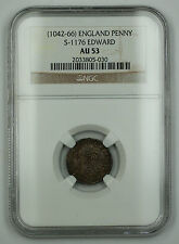 1042-66 England Expanding Cross Penny Silver Coin S-1176 Edward NGC AU-53 AKR
