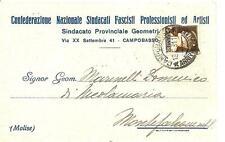 CAMPOBASSO - Sindacato Provinciale Geometri   Conf. Naz. Sindacati Fascisti