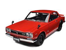 1ST NISSAN SKYLINE GT-R (KPGC10) RED 1/18 DIECAST MODEL CAR BY AUTOART 77382