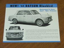1964 Datsun Bluebird original Australian double sided single page brochure