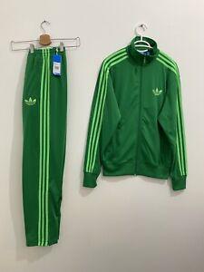 Adidas Originals ADI-Firebird Tracksuit Green Jacket Size S, Pants Size XS