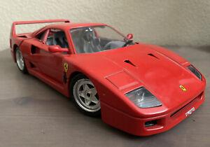 Burago Italy 1:18 Scale Diecast Ferrari F40 Red 1987 Euro Model Race Car