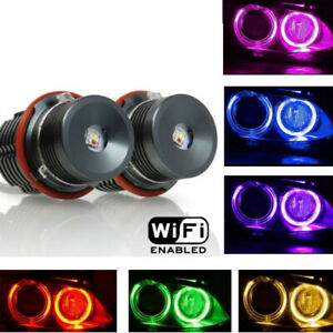 CREE RGB Change Phone WIFI Angel Eyes Halo LED For BMW E39 E53 E61 E63 E64 E60