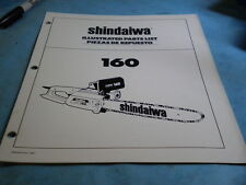 OEM Shindaiwa Electric Chainsaw 160 Illustrated Parts List