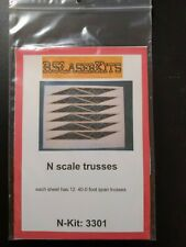 Rs Laser Kits N scale trusses #3301 40-0 foot span trusses Model Trains Diorama