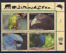 UNO WIEN 2011 - Gefährdete Arten (XIX), Nr. 732 - 735 Zd., postfrisch **