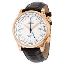 Mido GMT Automatic Silver Dial Brown Leather Men's Watch M0059293603100