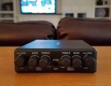 Dual Bass Treble Equalizer EACH Channel L+R Volume Controls Headphone Amp SmkClr