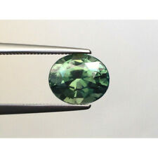 Natural Unheated Bluish Green Sapphire Oval shape 3.09 carats with GIA Report
